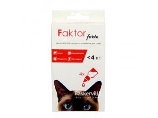 Капли Faktor forte для котов до 4 кг. Цена за 1 пипетку.