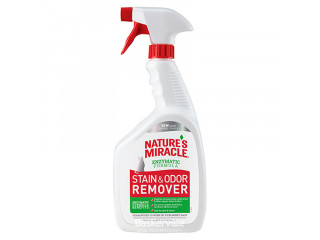 8in1 Nature's Miracle Stain & Odor Remover Спрей уничтожитель кошачьих пятен и запахов, 946 мл