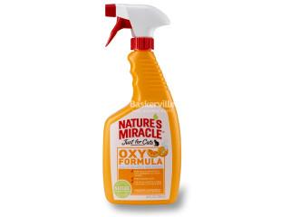 8in1 Nature's Miracle Oxy Formula Уничтожитель пятен и запахов для кошек, 709 мл