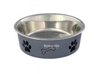 Trixie миска для собак металическая, серая 0.25л