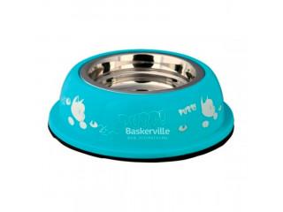 Trixie миска для кота метал/пластик 0,25л, голубая