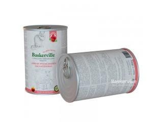 Консервированный корм для кошек Baskerville Sensitive Ягненок с клюквой и кошачьей травой, 400г