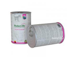 Консервированный корм для котят Baskerville Телятина с черникой, 400г
