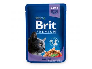 Brit. Gravy. Cod Fish. Влажный корм для котов. Филе трески в соусе, 100 г