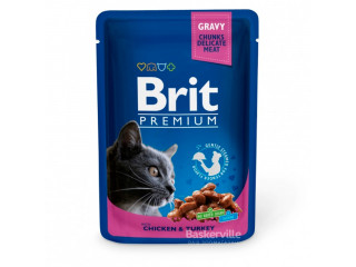 Brit. Gravy. Chicken & Turkey. Влажный корм для котов. Филе курицы и индейки, 100 г