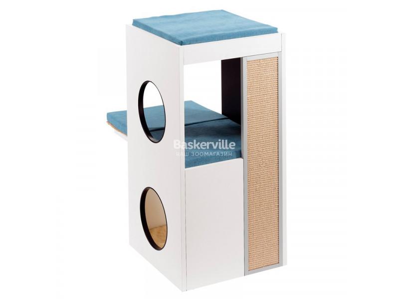 Мебель для кошек Ferplast Blanco 40х55х80 см с когтеточкой, игрушкой и местом для сна