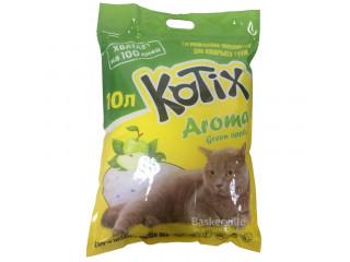 Kotix. Силикагелевый наполнитель для кошек с запахом яблока