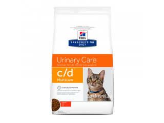 Hill's Prescription Diet c/d Multicare Urinary Care корм для кошек с курицей, 0.4кг