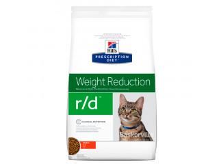 Hill's Prescription Diet r/d Weight Reduction корм для кошек курицей 1.5 кг