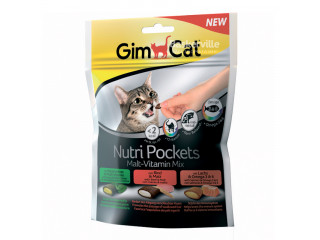 Gimсat (Джимкет) NUTRI POCKETS MALT VITAMIN MIX лакомство для кошек