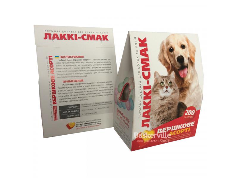 Витамины для собак Лакки-Вкус Сливочное ассорти 200 таб.