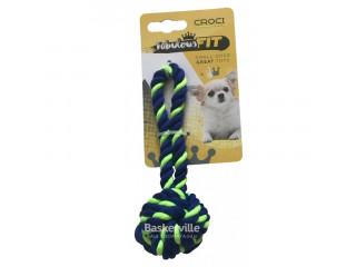 CROCI Игрушка для мелких собак, плетеный мяч с каната ЗЕЛЕНЫЙ