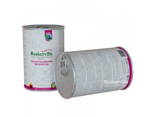 Консервированный корм для собак Baskerville Sensitive Оленина с черникой и спирулиной, 400г