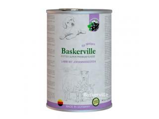 Консервированный корм для щенков Baskerville Ягненок и смородина, 800г