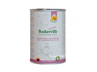 Консервированный корм класса холистик для собак Baskerville Утка и кабан с тыквой и зеленью, 800г