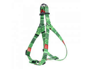 """Collar Waudog Nylon Нейлоновая шлея для собак """"Этно зеленый"""" (длина - 40-55 см, ширина - 15 мм)"""