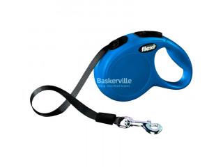 Поводок-рулетка Flexi New Classic XS лента, Синяя (3 м, до 12 кг)