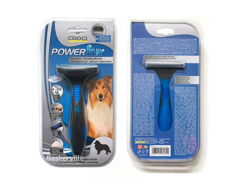 CROCI Фурминатор PowerFur для длинношерстных собак  (9-24 кг), 6,5 см