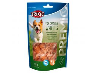 "TRIXIE Лакомство для собак ""Fish Chicken Wheels"" рыба и курица 75 г"