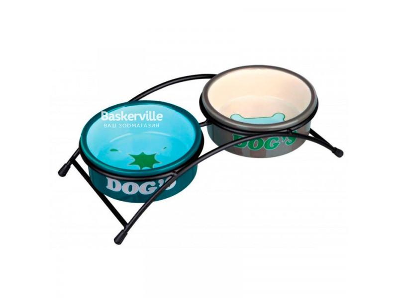 Trixie - Керамические миски для собак на подставке(1л/20см)