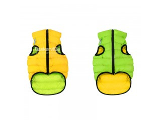 Collar (Коллар) AIRY VEST (ДВУСТОРОННЯЯ) куртка для собак, салатово-желтый. XS-30