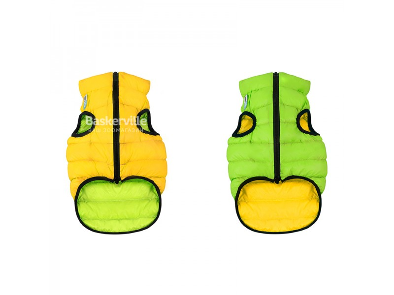 Collar (Коллар) AIRY VEST (ДВУСТОРОННЯЯ) куртка для собак, салатово-желтый. S-35