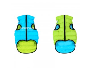 Collar (Коллар) AIRY VEST (ДВУСТОРОННЯЯ) куртка для собак, салатово-голубой. XS-22