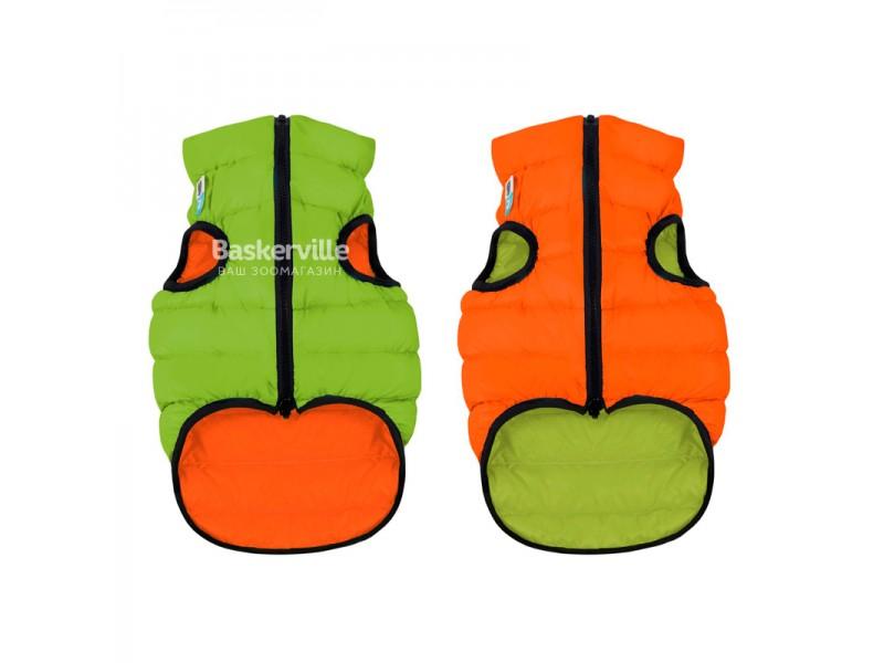 Collar (Коллар) AIRY VEST (ДВУСТОРОННЯЯ) куртка для собак, салатово-оранжевый. S-30