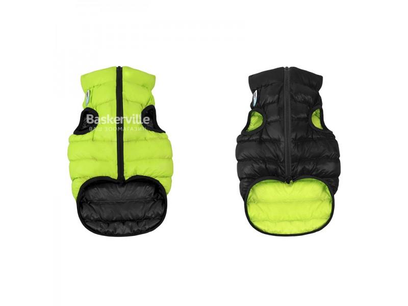 Collar (Коллар) AIRY VEST (ДВУСТОРОННЯЯ) куртка для собак, салатово-черный. S-30