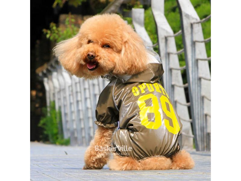 Dobaz. Safety. Дождевик с капюшоном для собак. Коричневый