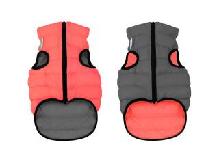 Двусторонняя курточка для собак AiryVest кораллово-серая