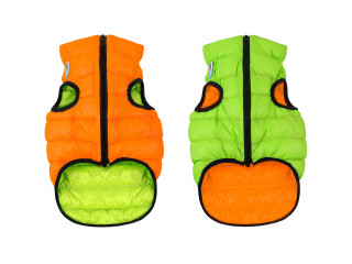 Двусторонняя курточка для собак AiryVest оранжево-cалатовая