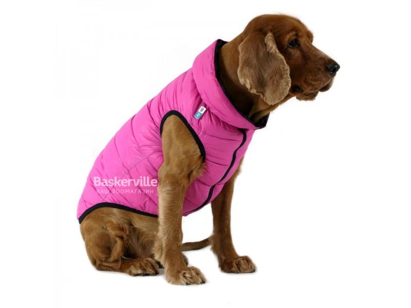 Collar (Коллар) AIRY VEST (ДВУСТОРОННЯЯ) куртка для собак, розово-серый. S-35