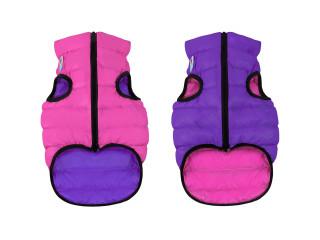 Двусторонняя курточка для собак AiryVest розово-фиолетовая