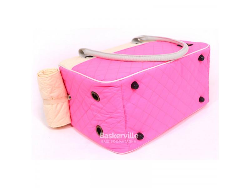 Сумка-переноска Do Do Pet Candy 22 x 28 х 40.5 см Розовая с кремовым