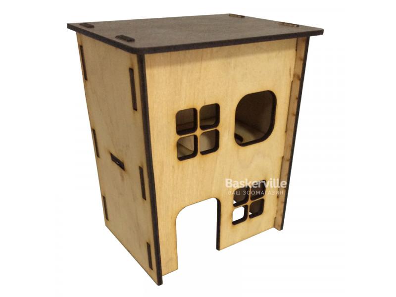 Дом для хомяка (дерево-глянец), 2-этажный