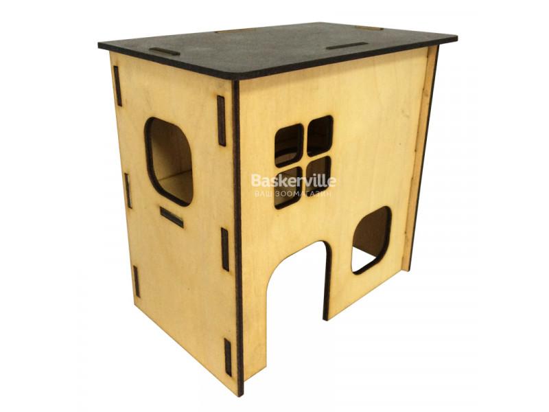 Домик для крыс (дерево), 2-этажный