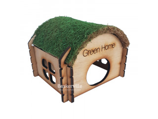 """Дом для хомяка """"Зеленый дом"""" (дерево)"""