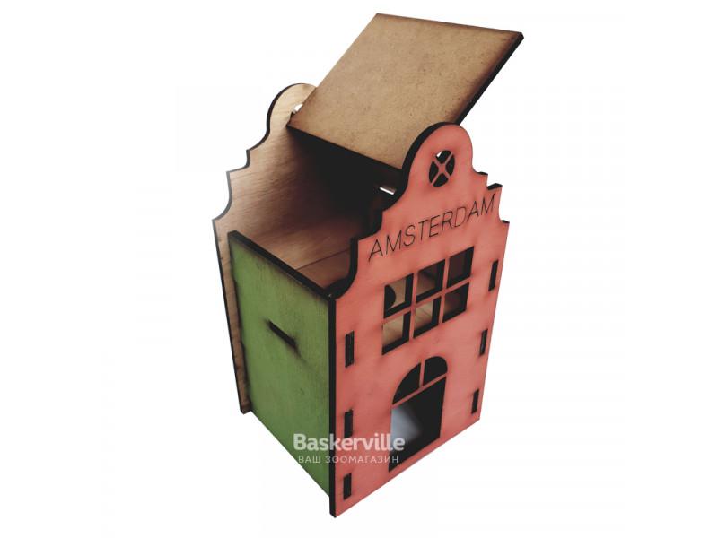 """Дом для хомяка (дерево), 2-этажный """"Амстердам"""""""