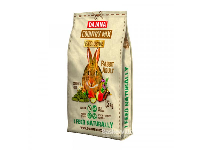 """Корм для взрослых кроликов Dajana """"Country Mix Exclusive"""", 1,5 кг"""