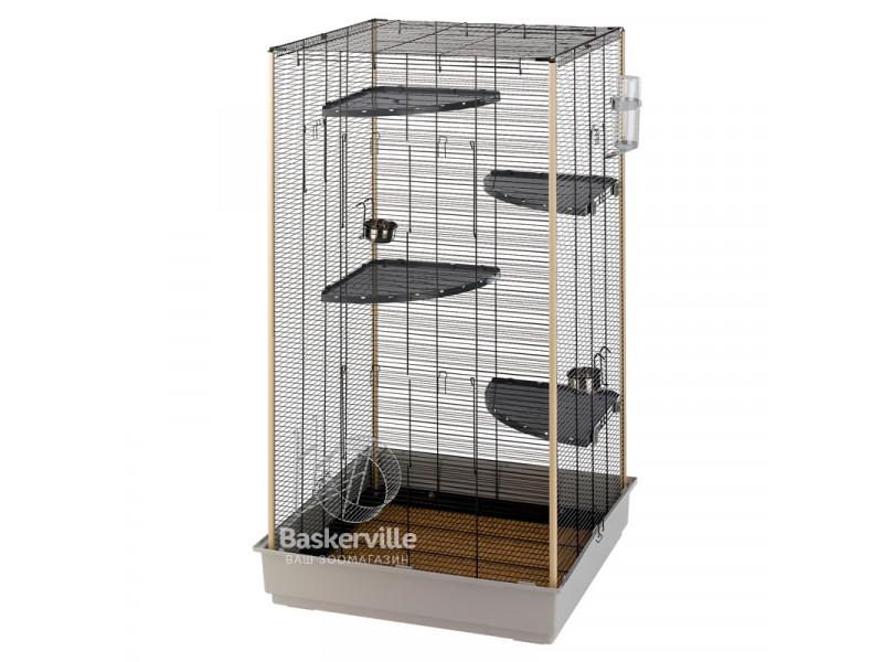 Клетка для бурундуков и белок Ferplast Scoiattoli Tower Kd 80х75х152 см Серая