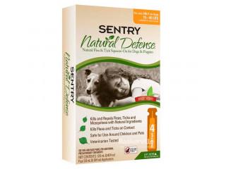 Sentry Natural Defense Капли от блох и клещей для собак и щенков от 7 до 18 кг