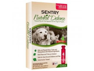 Sentry Natural Defense Капли от блох и клещей для собак и щенков от 18 кг