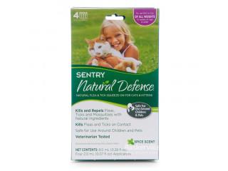 Sentry Natural Defense капли от блох, клещей и комаров для котят и взрослых кошек