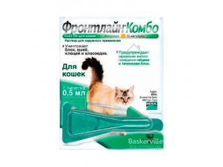 Frontline Combo Cat капли для котов от блох, вшей и клещей