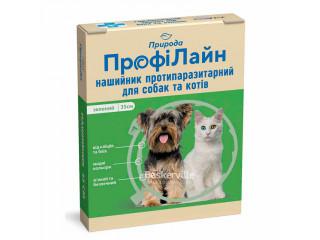 Ошейник для собак и кошек от блох и клещей ТМ Природа ПрофиЛайн 35 см. (зеленый)