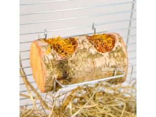 Кормушка с корой для птиц двойная (5см х 10см)