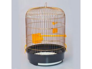"""Лори Клетка для птиц """"РОНДО"""" золото (325х440)"""