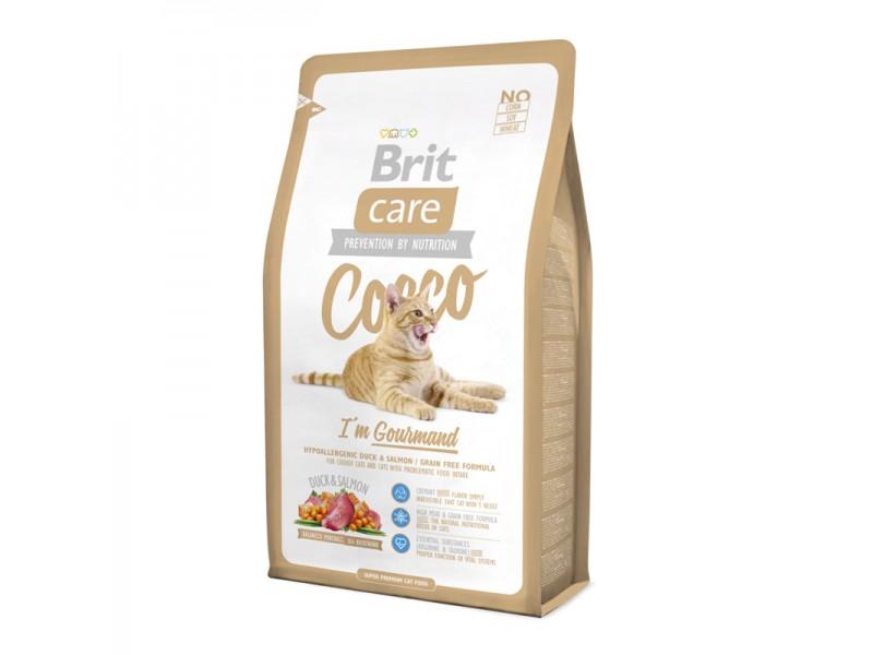 Brit Care Cat Cocco с уткой и лососем для привередливых кошек с чувствительным пищеварением