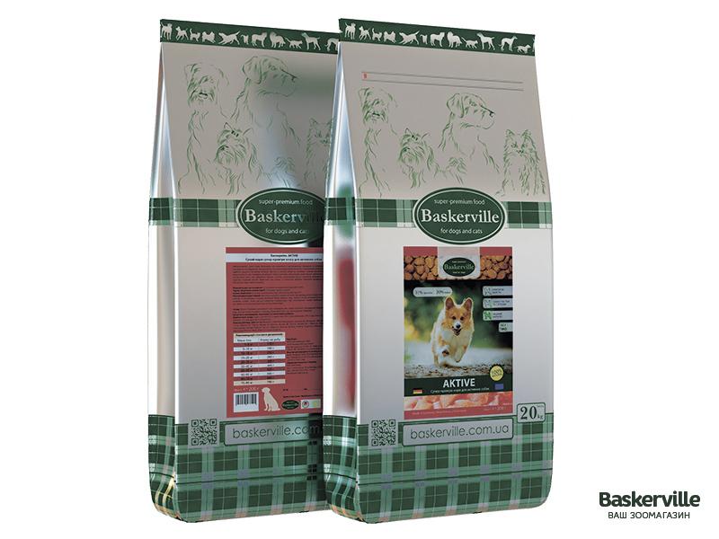 Сухой корм для активных собак Baskerville Active 20 кг